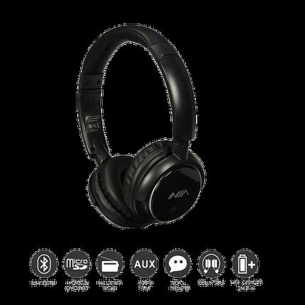 Бездротові навушники NIA-Q1 4-в-1 - Bluetooth-навушники з MP3 плеєром, FM радіо, гарнітура Топ, фото 2