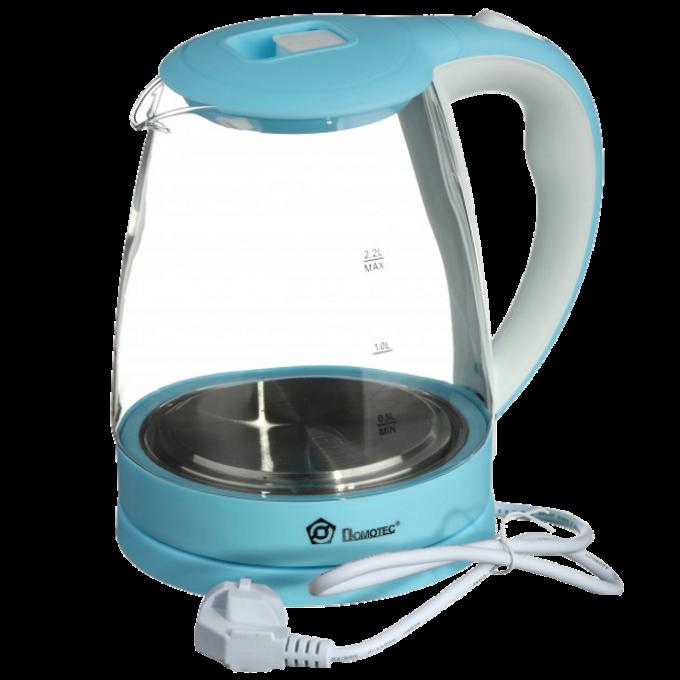 Электрочайник Domotec MS-8214 (2 л / 2200 Вт) Sky Blue - Чайник электрический с LED подсветкой Топ