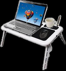 Столик для ноутбука E-Table LD-09 - Портативный складной столик подставка для ноутбука с 2 USB кулерами Топ