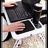 Столик для ноутбука E-Table LD-09 - Портативний складаний столик підставка для ноутбука з 2 USB кулерами Топ, фото 3
