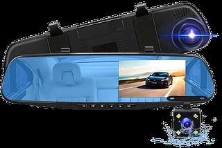 """Автомобільний відеореєстратор DVR-138W FullHD 1080p 4,3"""" - відеореєстратор дзеркало заднього виду (2 камери), фото 2"""