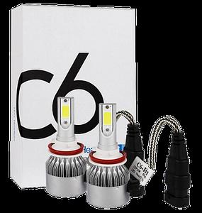 Комплект автомобільних LED ламп C6 H11 - Світлодіодні лампи, Автолампи, Ближнє, дальнє світло, Автосвітло Топ