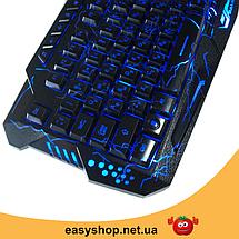 Игровая клавиатура с подсветкой молния Atlanfa M200L - Проводная клавиатура Razer с тремя режимами подсветки, фото 3