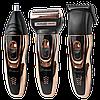 Машинка для стрижки GEMEI GM-595 3 в 1 - Бездротова акумуляторна машинка, тример, бритва Топ, фото 6