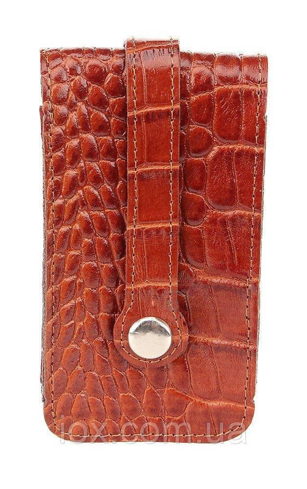 Удобная ключница из кожи под крокодила SHVIGEL 16145
