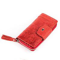 Женский кошелек Desisan 17060 кожаный Красный, фото 1