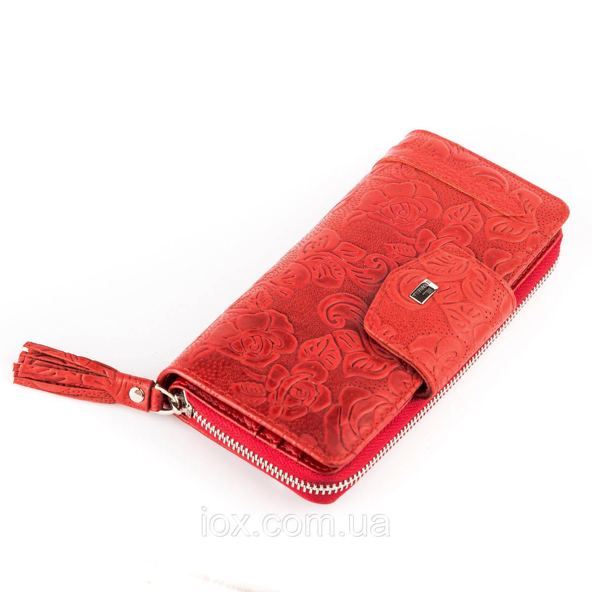 Женский кошелек Desisan 17060 кожаный Красный