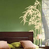 Интерьерная виниловая наклейка на обои Бамбуковые заросли, декоративные стикеры на стены, трава, дерево, декор