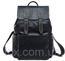 Рюкзак Vintage 14842 кожаный Черный