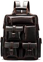 Рюкзак дорожный Vintage 14711 кожаный Темно-Коричневый