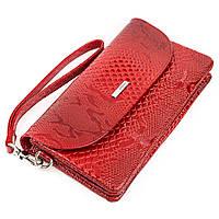 Клатч женский KARYA 17191 кожаный Красный, фото 1