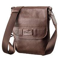 Мужская кожаная сумка планшетка SHVIGEL 19114 Коричневая