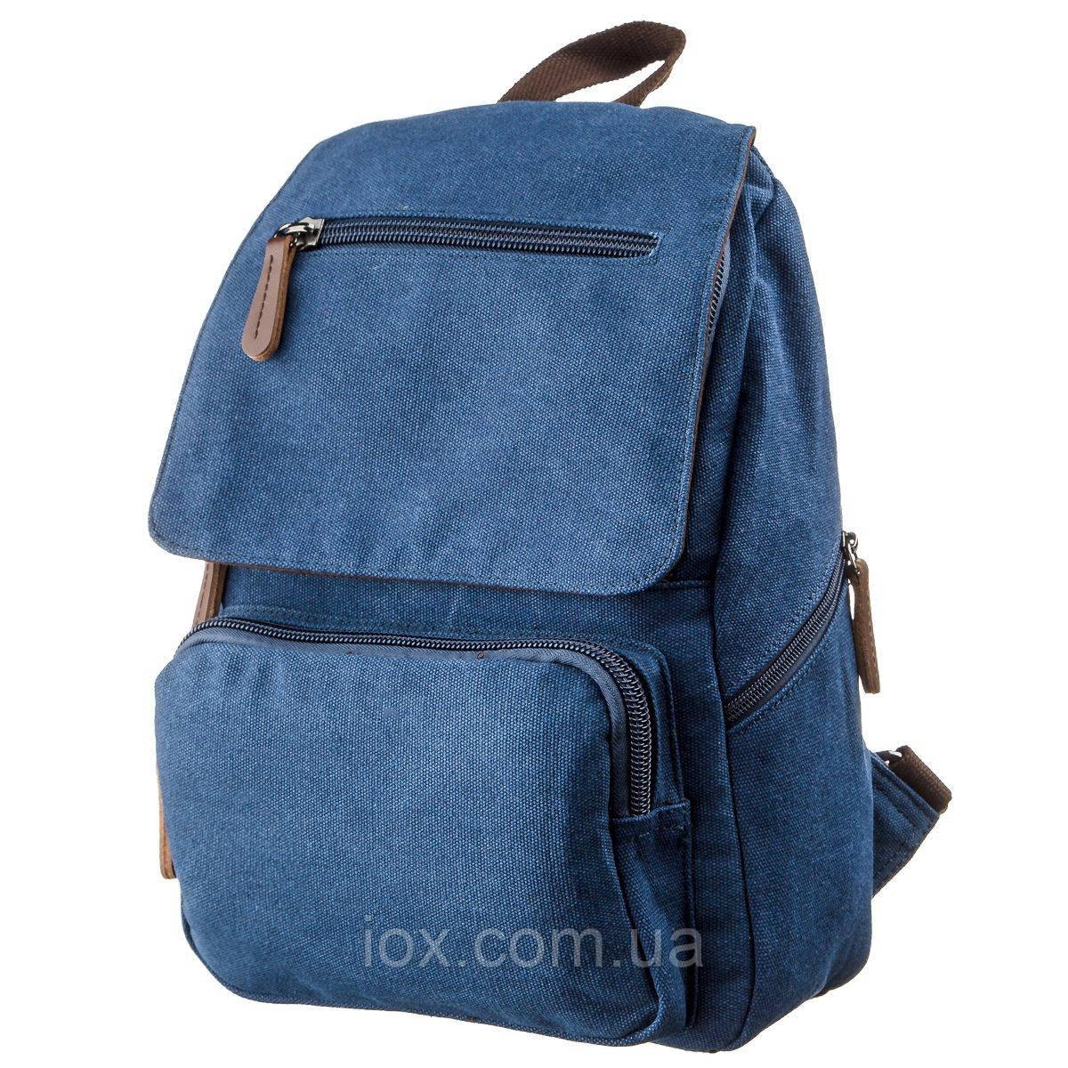 Компактный женский текстильный рюкзак Vintage 20197 Синий