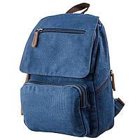 Компактный женский текстильный рюкзак Vintage 20197 Синий, фото 1