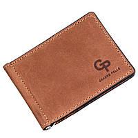 Компактний затиск для грошей на магніті GRANDE PELLE 11242 Рудий, фото 1