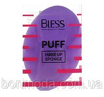 Спонж скошенный, фиолетовый Bless Beauty PUFF Make Up Sponge