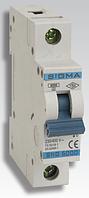 Автоматичний вимикач автомат 63 А ампер Европа однофазний однополюсний В B характеристика