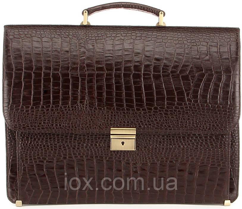 Портфель деловой SHVIGEL 00363 из натуральной кожи Коричневый