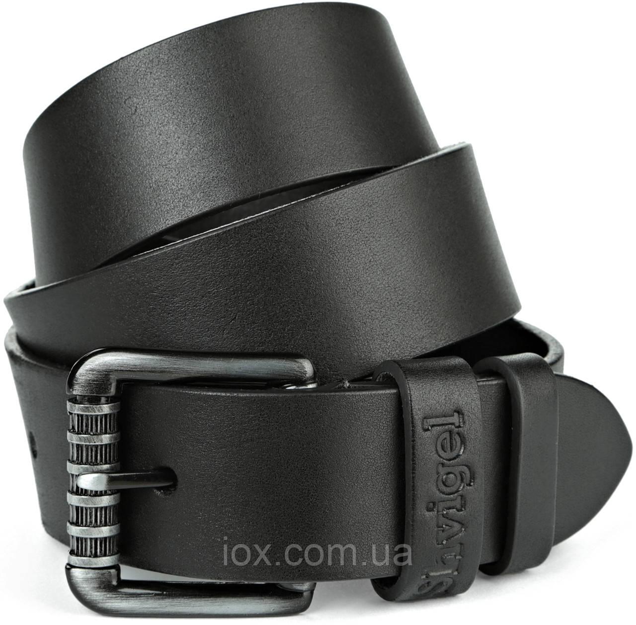 Ремень SHVIGEL джинсовый 11023 Черный