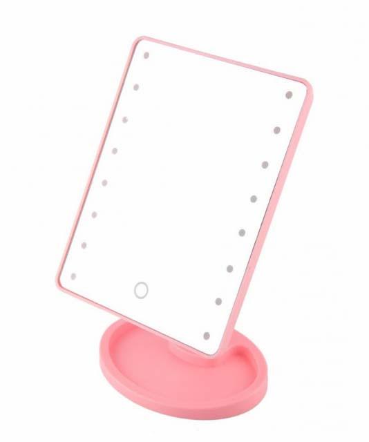 Сенсорное настольное зеркало для макияжа Tina Mirror с LED подсветкой