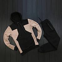 Мужской весенний/осенний спортивный костюм с худи без бренда