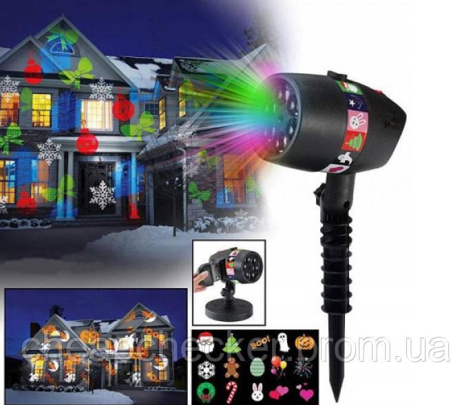 Лазерный Проектор Слайдер Star Shower Slide Show 12 Слайдов
