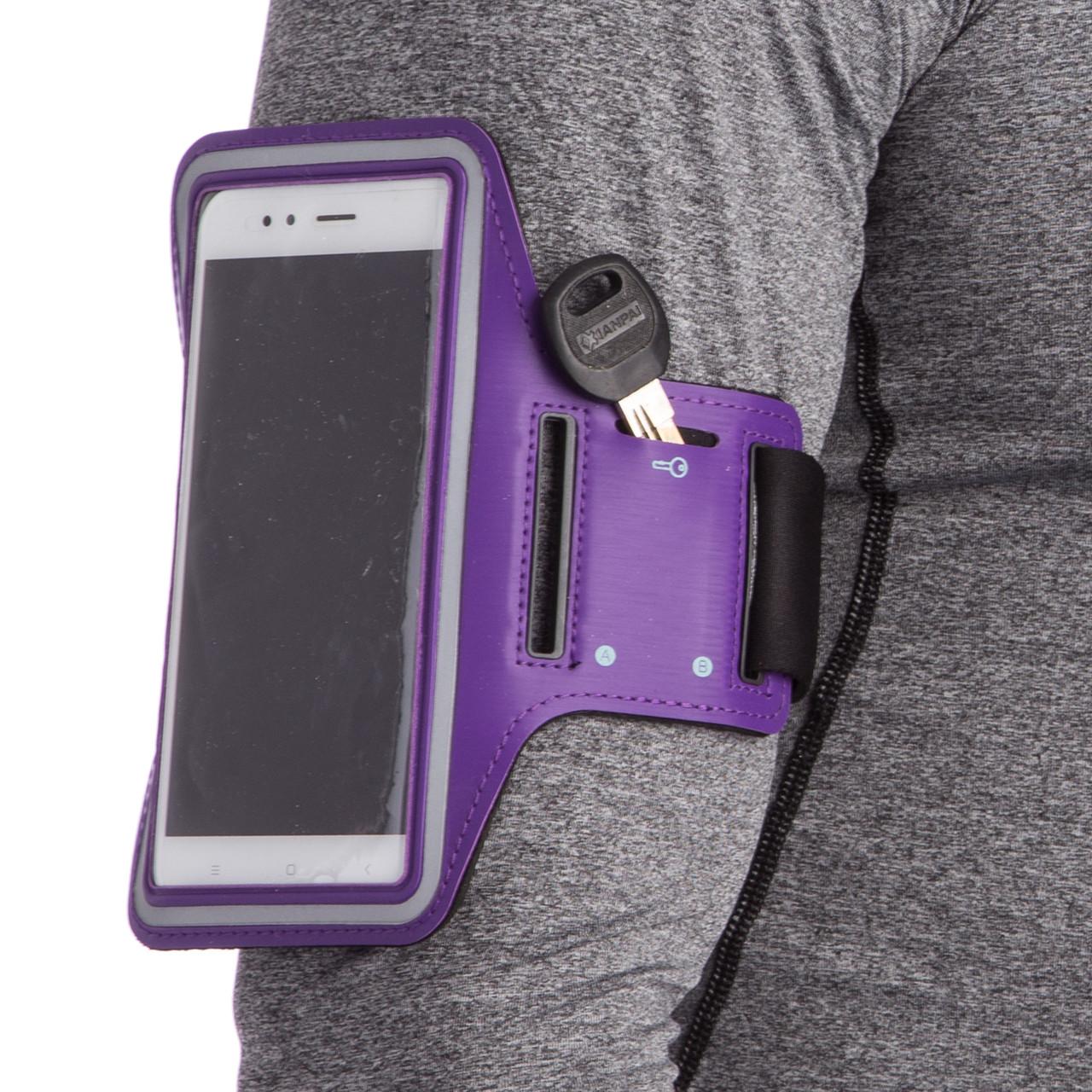 Чехол для телефона с креплением на руку для занятий спортом planeta-sport BTS-432 для iPhone и iPod 18x7см