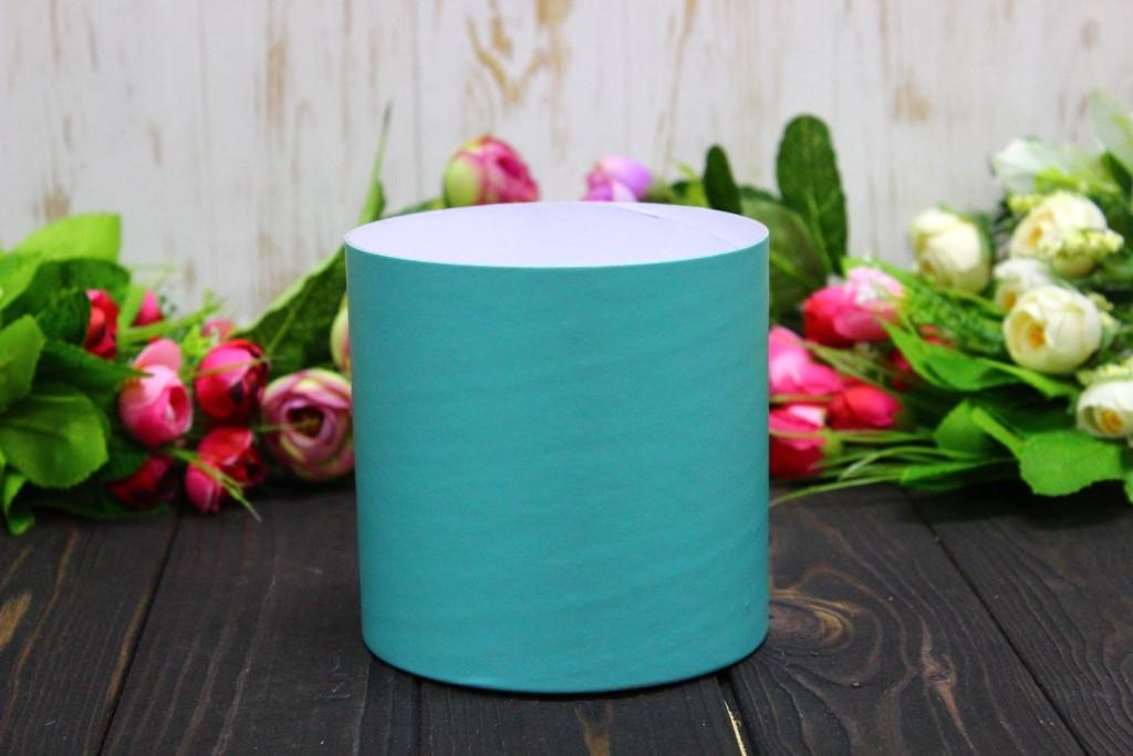 Круглая коробка для цветов без крышки D110mm/H110mm №5 - Тиффани