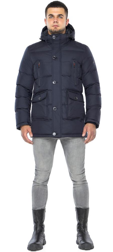 Куртка темно-синяя зимняя мужская трендовая модель 24750