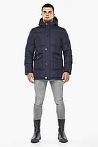 Куртка темно-синяя зимняя мужская трендовая модель 24750, фото 2