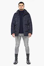 Куртка темно-синяя зимняя мужская трендовая модель 24750, фото 3