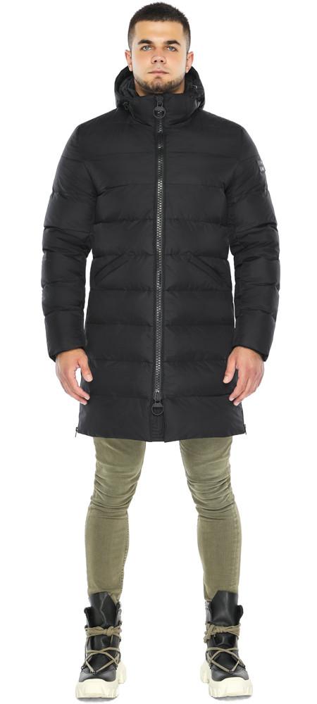 Черная куртка практичная мужская зимняя модель 35260