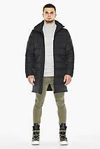 Черная куртка практичная мужская зимняя модель 35260, фото 3