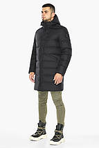 Черная куртка практичная мужская зимняя модель 35260, фото 2