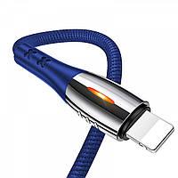 Кабель USAMS US-SJ344 U-Tone series Smart Power-off Lightning 1.2m (blue), фото 1