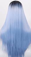 Длинный глубой парик омбре 66 см, прямые волосы градиент, парики из высококачественных синтетических волокон