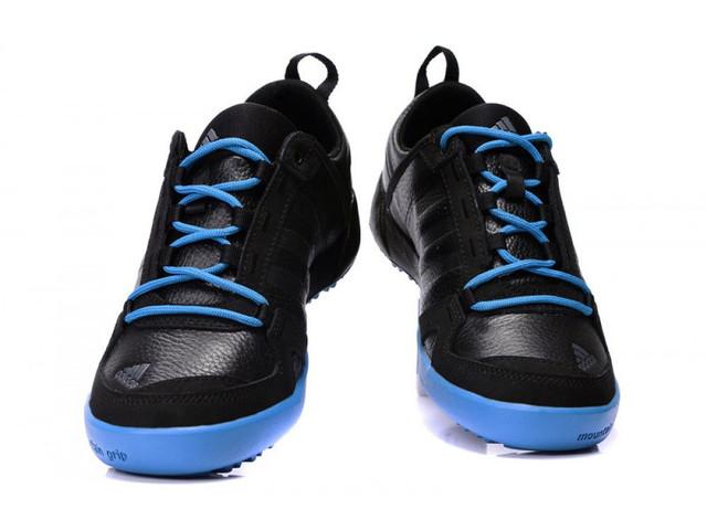 Кроссовки мужские Adidas Daroga зимние кожаные черно-синие