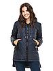 """Жіноча подовжена куртка з асиметричним низом великих розмірів """"Стелла"""", фото 8"""