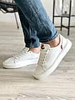 Мужские кеды кожаные весна/осень белые Multi-shoes Gold, фото 2