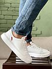 Мужские кеды кожаные весна/осень белые Multi-shoes Gold, фото 5