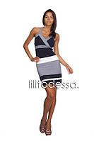 Платье с открытой спинкой темно-синий, фото 1