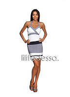 Платье с открытой спинкой белый, фото 1