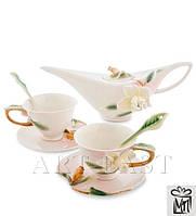 Чайный набор ''Гардения'' на 2 персоны (Pavone)