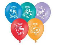 """Воздушные шарики """"Смешарики"""". Размер:""""12"""" В упак: 50шт. Пр-во: Belbal (Бельгия)."""
