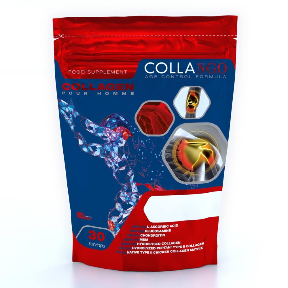 Для суставов и связок Collango Collagen Pour Homme, 348 грамм Ежевика