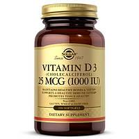 Витамины и минералы Solgar Vitamin D3 25 mcg, 100 капсул