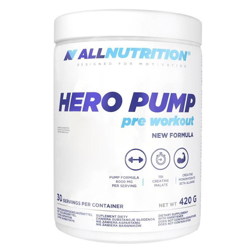 Предтренировочный комплекс AllNutrition Hero Pump Pre Workout, 420 грамм Лимон