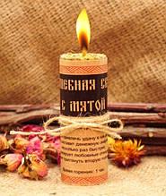 Волшебная свеча с мятой ручная работа