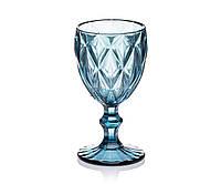 Бокалы для вина из цветного стекла 6шт Glassware 240 мл Синий