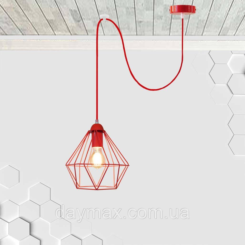 Подвесной светильник на 1-лампу CLASSIC/SP-R E27 красный